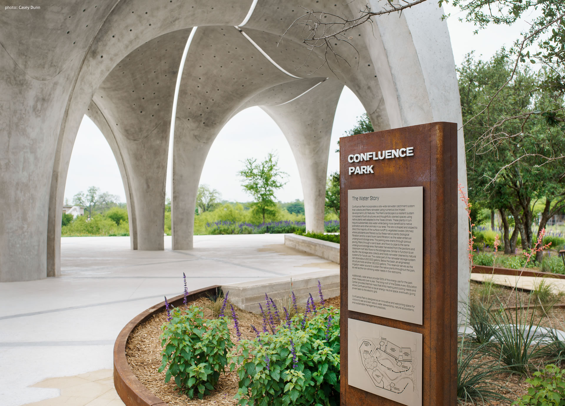 Confluence Park Pavilion with Sign