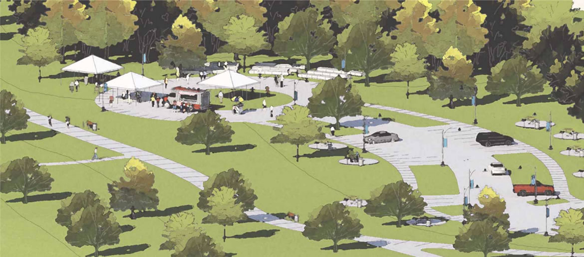 Escondido Creek Parkway rendering of 54th Street Trailhead