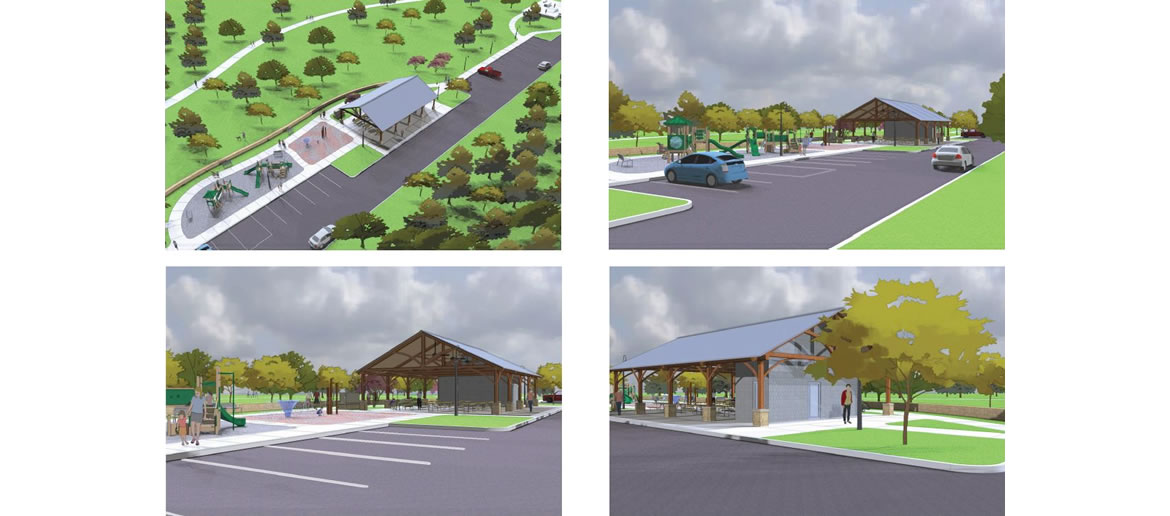 Escondido Creek Parkway rendering of Pavilion