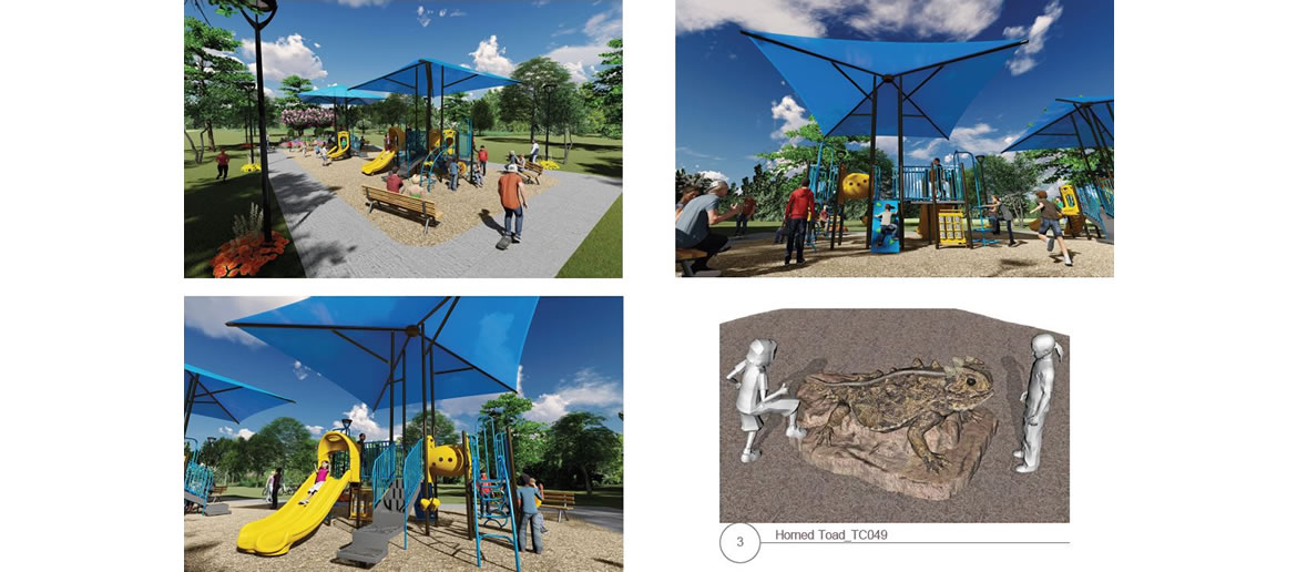 Escondido Creek Parkway rendering of Playground