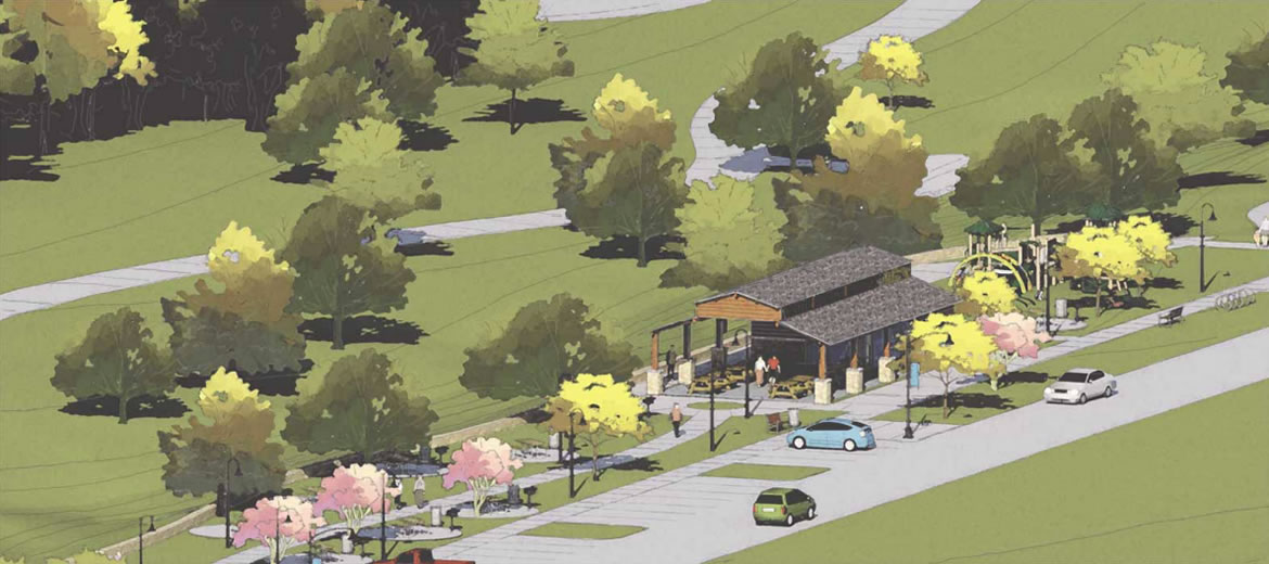 Escondido Creek Parkway rendering of Pullin Street Trailhead