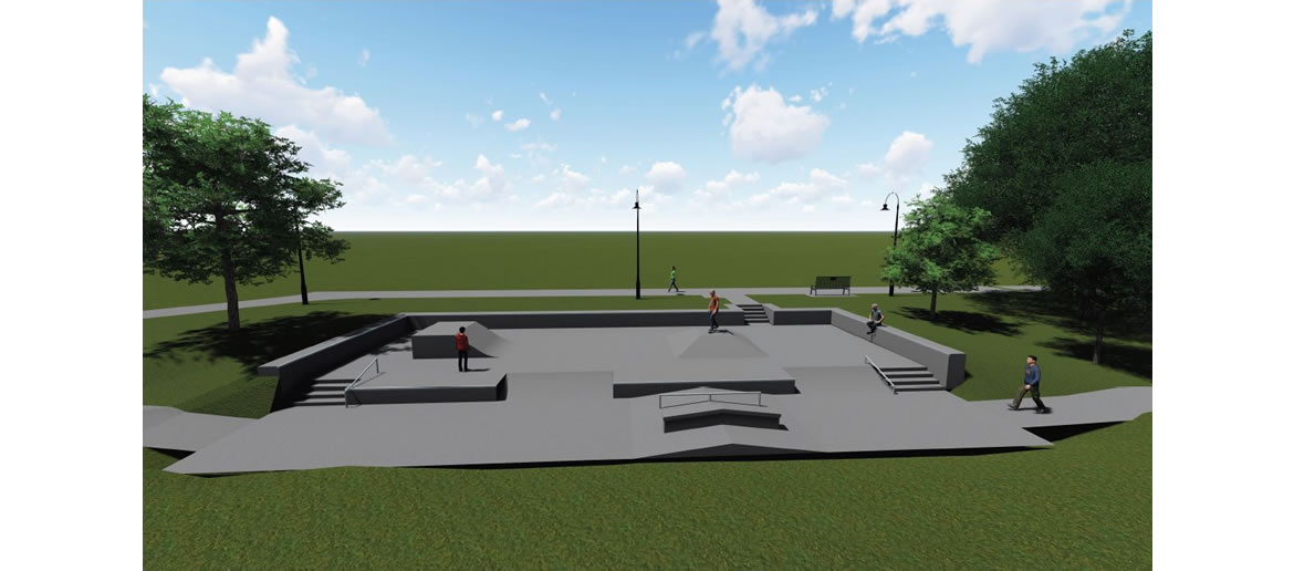 Escondido Creek Parkway rendering of Skate Park