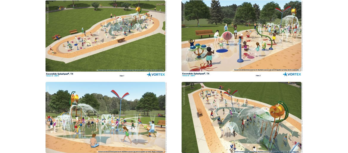 Escondido Creek Parkway rendering of Splash Pad