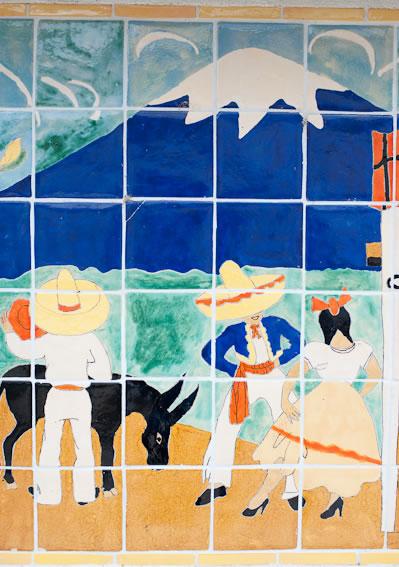 Maverick Tile Mural closeup
