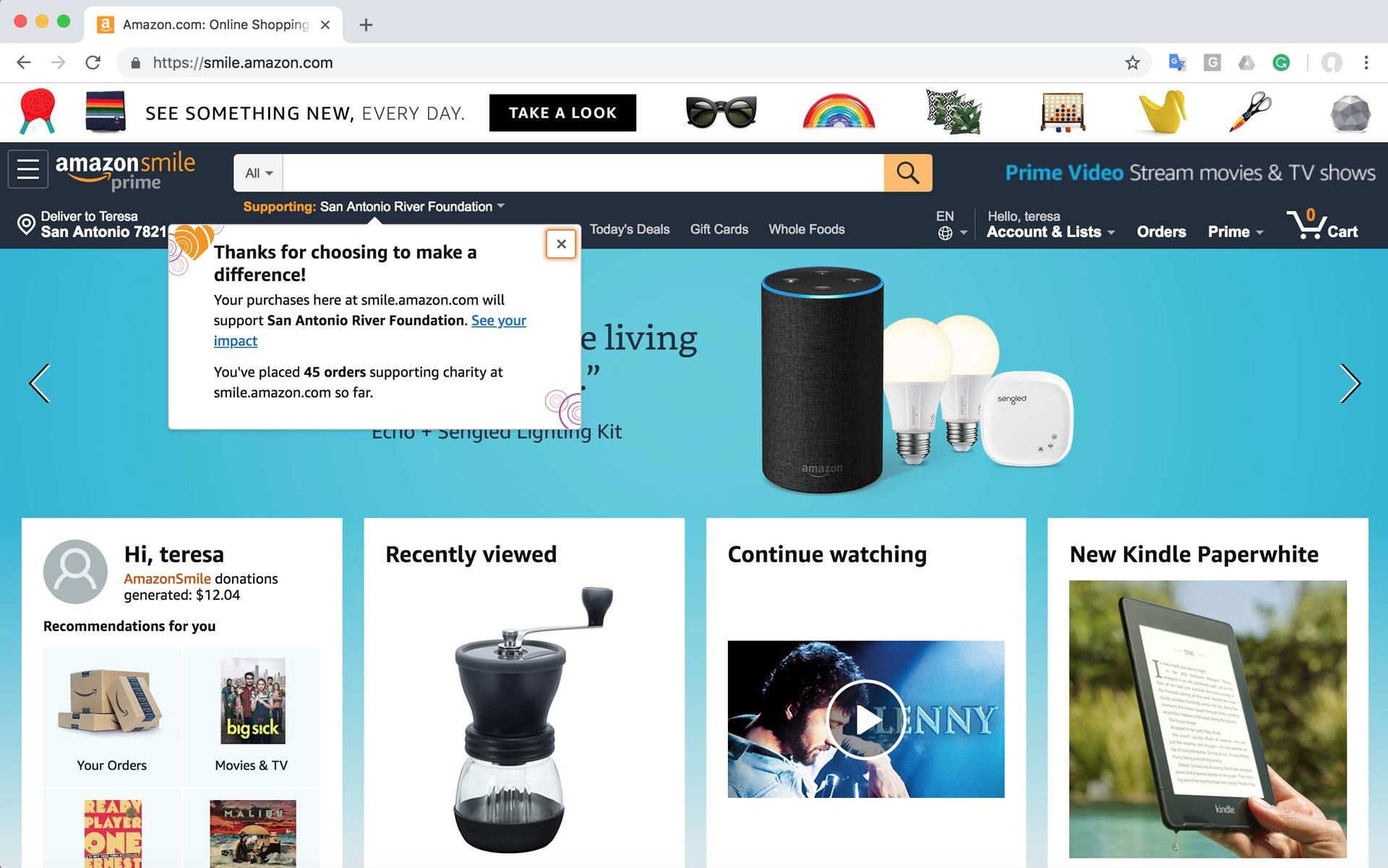 How to do Amazon Smile