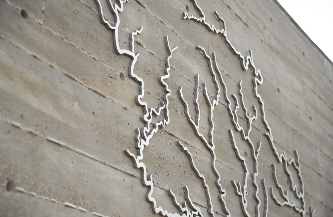 Confluence Park Watershed Wall Closeup
