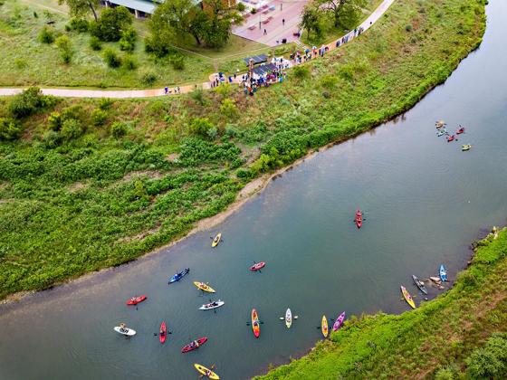 Flotilla in the River